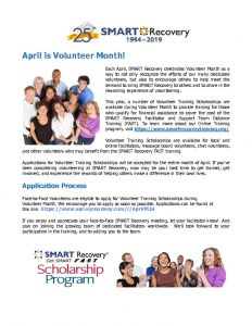 thumbnail of Volunteer Month Handout 2019