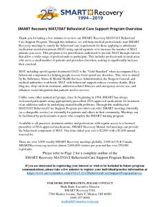 thumbnail of MAT-OAT SMART Recovery Behavioral Support Program Benefits Summary (PDF)[4]